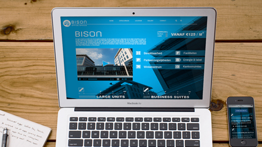 Bison Offices webdesign vastgoed