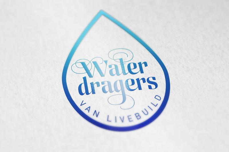 Livebuild Waterdragers Logo design Frankie Tjoeng